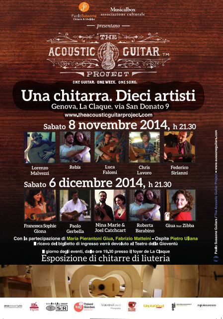 Paolo Sussone Guitars The Acoustic Guitar Project Genova