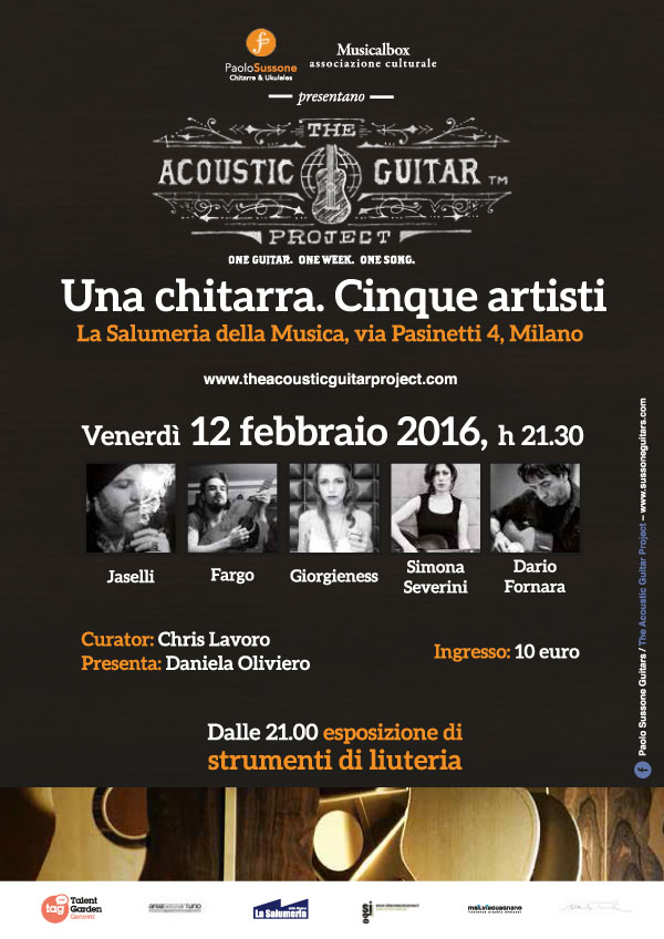 The Acoustic Guitar Project Milano 2016